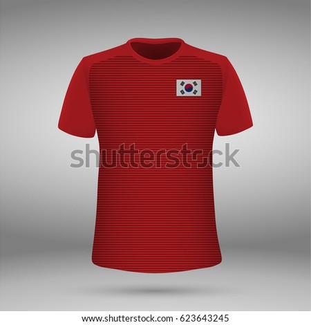 4f4cfdb97 Football Kit South Korea Flag Tshirt Stock Vector (Royalty Free ...