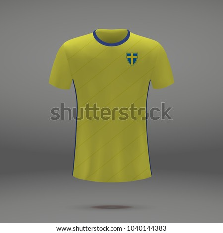 00eb68182 Royalty-free stock vector images ID  1040144383. football kit of Sweden  2018