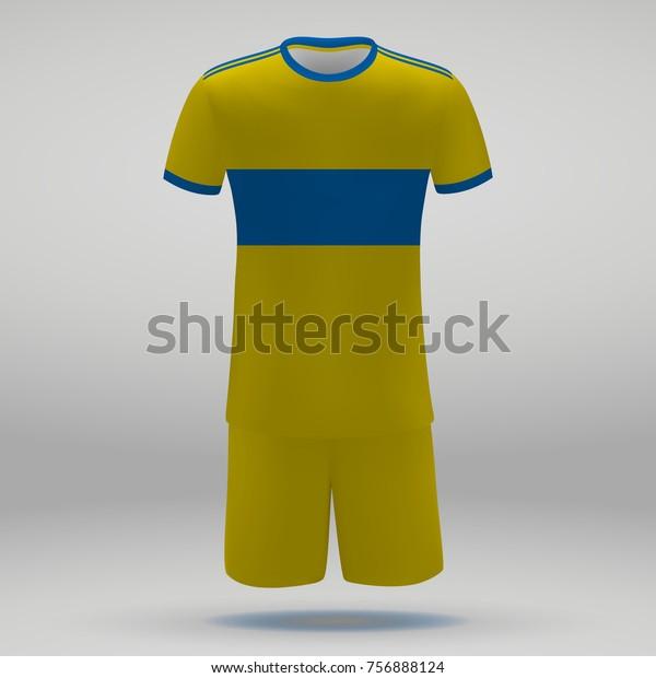 watch dd9df 1605d Football Kit Tigres Uanl Tshirt Template Stock Vector ...