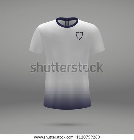 d668ad955f7dab Football Kit Tottenham Hotspur 2018 Shirt Stock Vector (Royalty Free ...