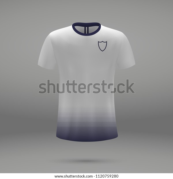 detailed look 74c64 2805f Football Kit Tottenham Hotspur 2018 Shirt Stock Vector ...