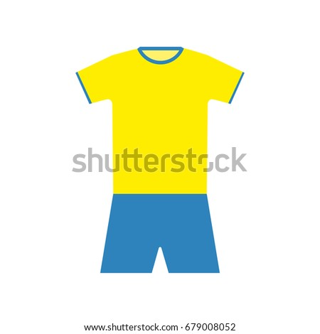 2c70440d7 Royalty-free stock vector images ID  679008052. Football kit of Ukraine -  Vector