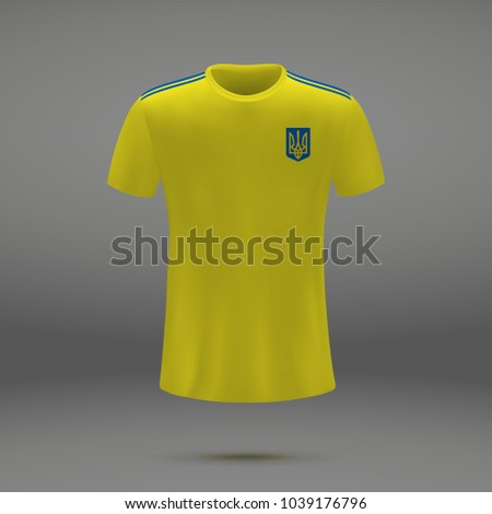 f85ea5464 Royalty-free stock vector images ID  1039176796. football kit of Ukraine  with coat of arms