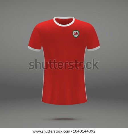 b7ee86e18 Royalty-free stock vector images ID  1040144392. football kit of Wales 2018