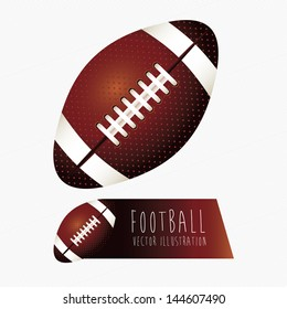 football labels over white background vector illustration