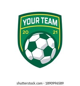 football logo with ball element, soccer logo