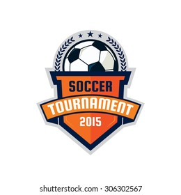 Football logo design , soccer  shield , vector illustration