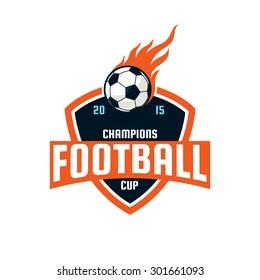 Football logo design, soccer team, vector illustration