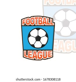 football logo and icon vector illustration design template