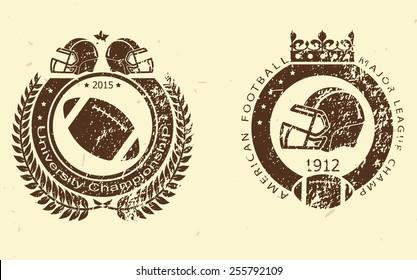 Football logo print stamps