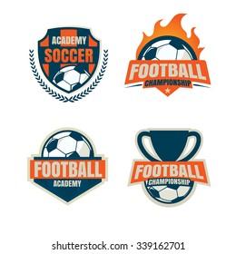 football  logo template collection design,soccer team,vector illustration