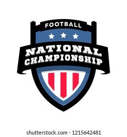 Football nationl championship logo.