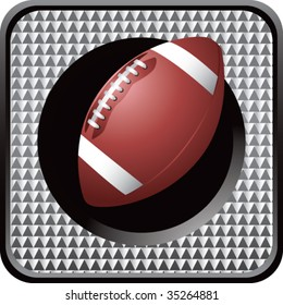 football on glossy diamond web button