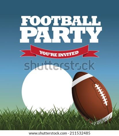 football party invitation design eps 10 vector stock vector royalty