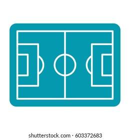 Football pitch, football field or soccer field, vector illustration in flat design