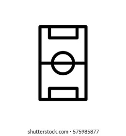 football pitch icon illustration isolated vector sign symbol