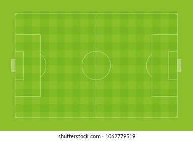 Football pitch or soccer field with official proportions