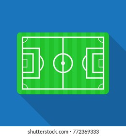 Football pitch,Soccer field vector logo.