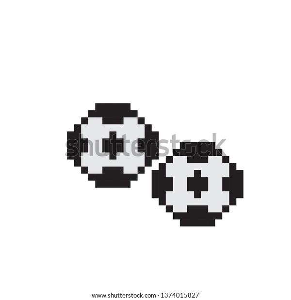 Football Pixel Art Stock Vector Royalty Free 1374015827