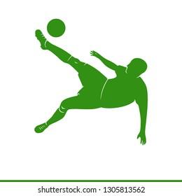 Football player bicycle kick