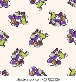football player , cartoon seamless pattern background