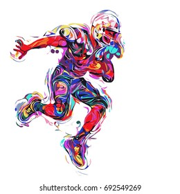 football player colorful / art