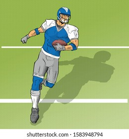 FOOTBALL PLAYER HOLDING THE BALL