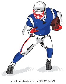 football player illustration A