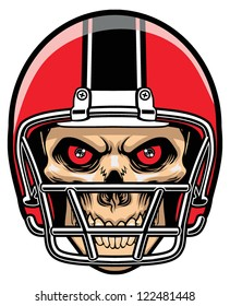 football player skull