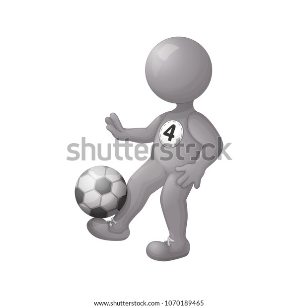 Football Player Stuffing Ball On His Stock Vector (Royalty Free