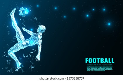 Football player.Abstract Technology.the future of Artificial intelligence.Sport Futuristic concept.design.Vector illustration.
