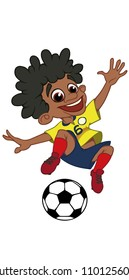 football players soccer  vector Colombia