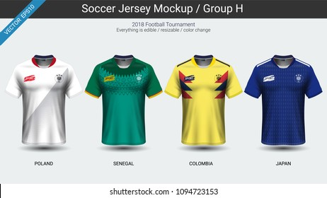 09b388e6ed4 Football players uniform, National team soccer jersey 2018 group H, For  your presentation the