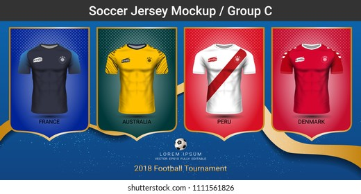 36df1eb2cfaab Football players uniform, National team soccer jersey 2018 group C, For  your presentation the