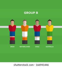 football players vector illustration