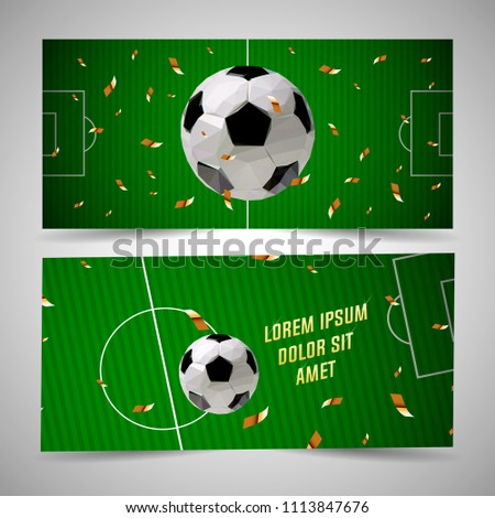football poster template stock vector royalty free 1113847676