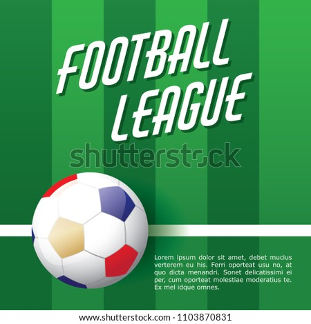 football poster template design series stock vector royalty free
