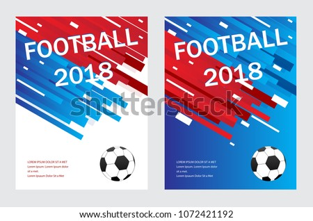 football poster template isolated on gray stock vector royalty free