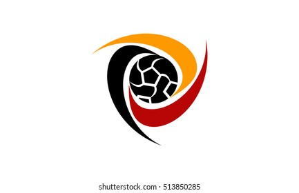 futsal logo images stock photos vectors shutterstock https www shutterstock com image vector football raining center 513850285