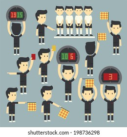 Football referee set
