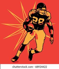 Football Running Back Illustration