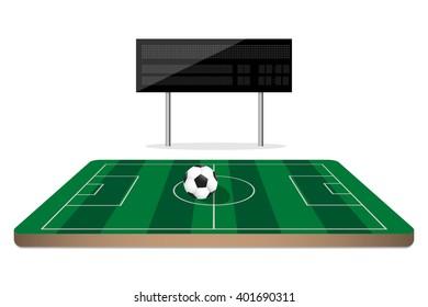 football scoreboard on mini soccer field