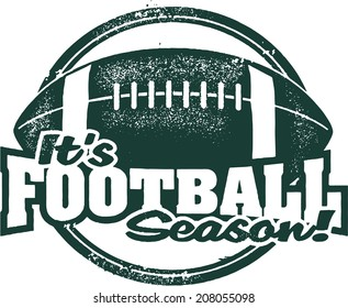 It's Football Season! Rubber Stamp Image