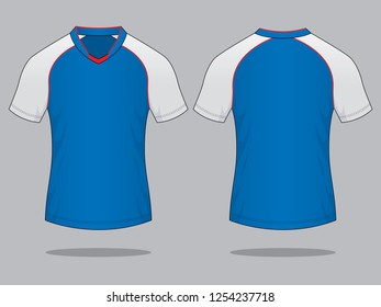 Football Shirt Design Vector : Front & Back View
