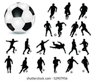 football silhouette 4-vector