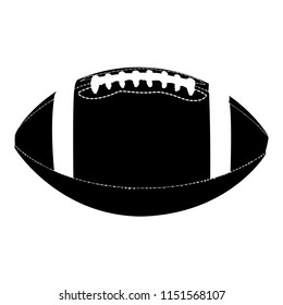 football, Silhouette - Vector