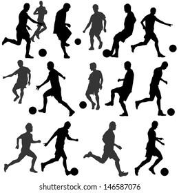 football silhouette vector