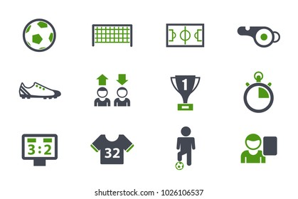 football simple vector icons in two colors