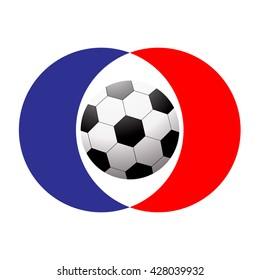 Football soccer ball icon. Flat design. Soccer ball on color background. Vector illustration.
