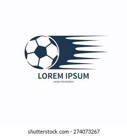 Football or soccer ball icon, symbol or logo. Vector illustration